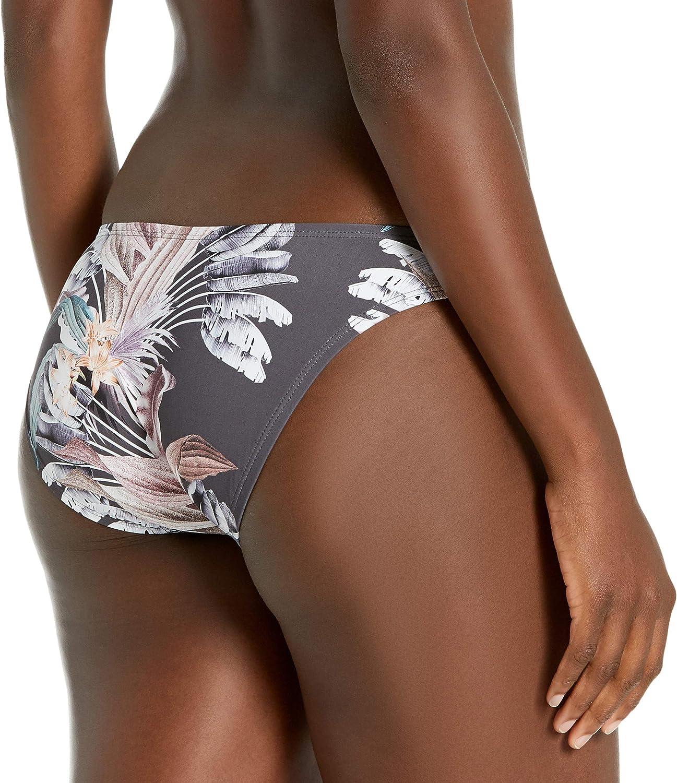 BCBGMAXAZRIA Women's High Leg Scoop Hipster Bikini Swimsuit Bottom
