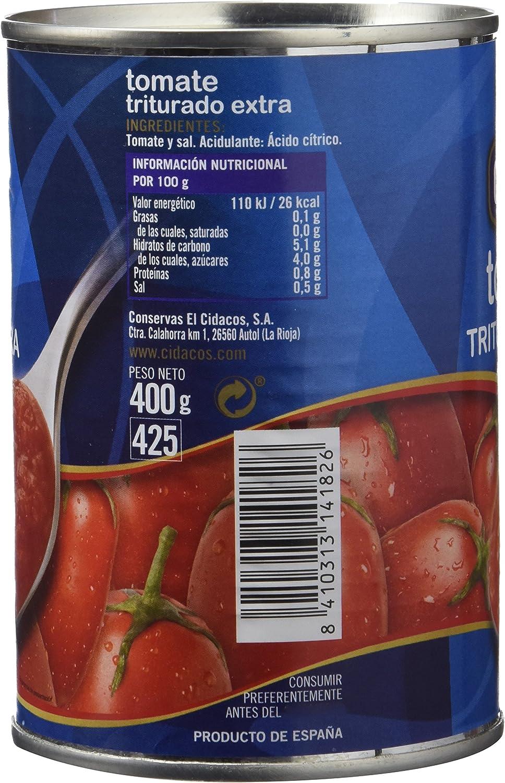 Cidacos - Tomate Triturado Extra, 400 g: Amazon.es ...
