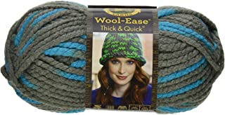 Lion 640-514 Wool-Ease Thick & Quick Yarn , 97 Meters, Blue Jay