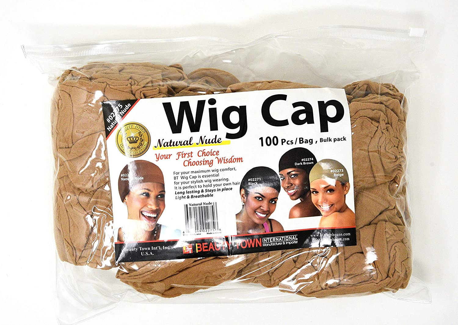 Beauty Animer and price revision Town Wig Cap 100 Bulk Nude Bag Natural Max 56% OFF Pieces