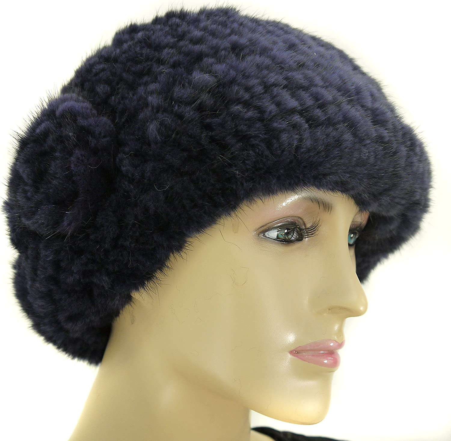 Hima Mink Full Fur Hat with Pom Pom