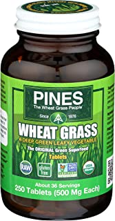 PINES Organic Wheat Grass, 250 Count Tablets | PINES Wheat Grass as featured in the new blockbuster film, Ocean's 8!