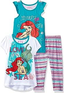Girls' 3 Piece Ariel the Little Mermaid Printed Legging Set