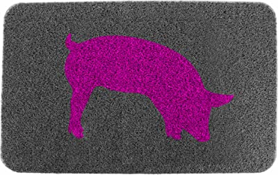 Kikkerland 30-Inch by 18-Inch Piggy Doormat