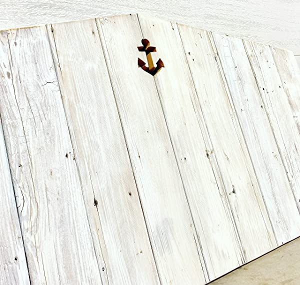 Whitewash Reclaimed Wood Headboard With Personalized Cutout Design
