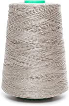 Linen Yarn Cone - 100% Flax Linen - 1 LBS - Natural Grey - 3 PLY - Sewing Weaving Crochet Embroidering - 3.000 Yards