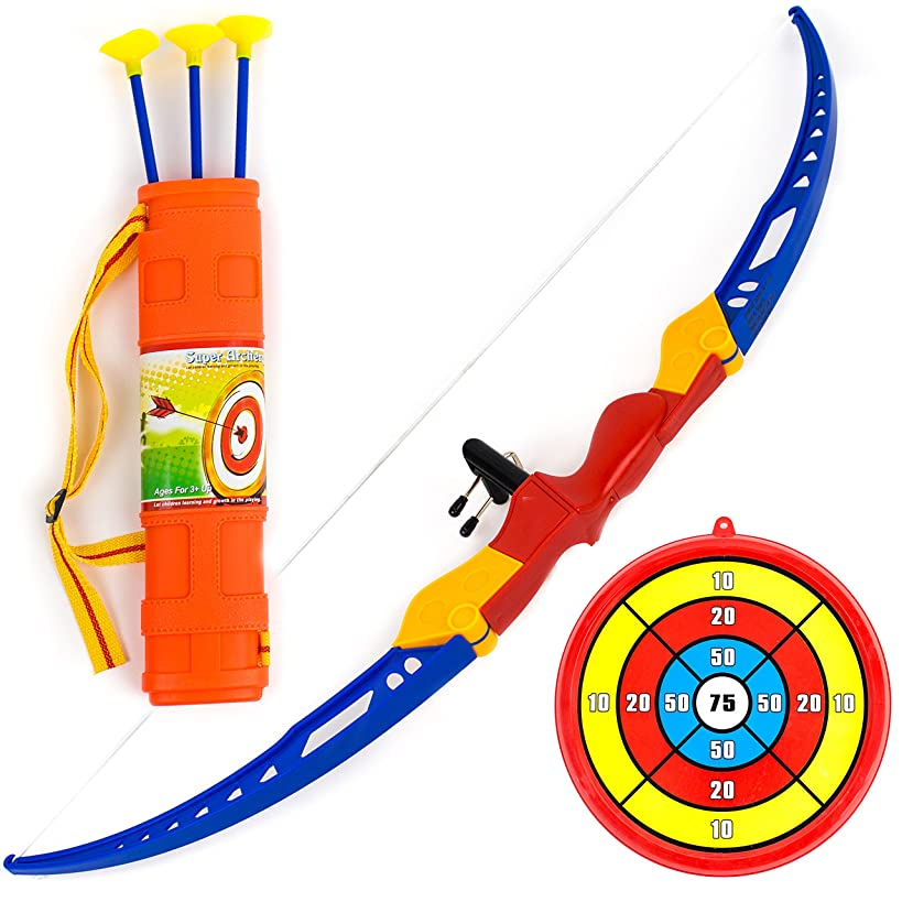 Toysery Kids Archery Bow and Arrow Toy Set with Target Outdoor Garden Fun Game.