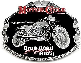 H.R.D Authentique Licence Officielle Dragon Designs Produit de Marque Vincent Boucle de Ceinture Black Shadow Moto Classique Fini En 24ct Or Plaqu/é