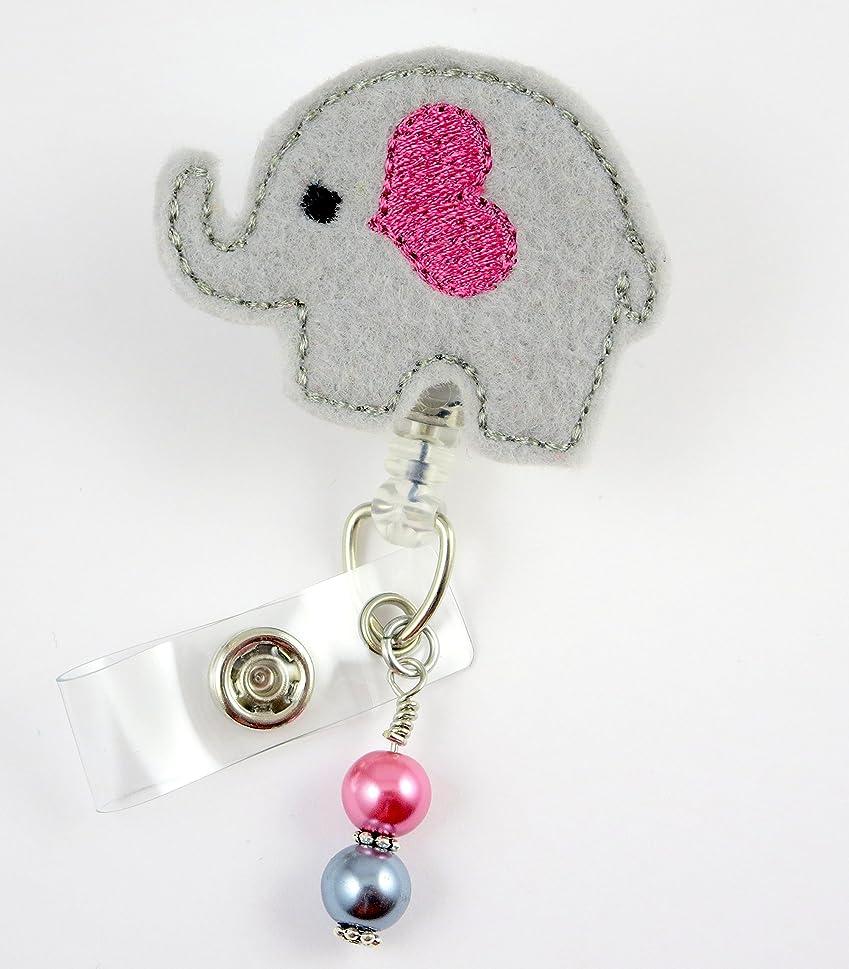 きつく星独裁者Cute Elephant withトランク?–?ナースバッジリール?–?Retractable IDバッジホルダー?–?ナースバッジ?–?バッジクリップ?–?バッジReels?–?Pediatric?–?RN?–?名前バッジホルダー