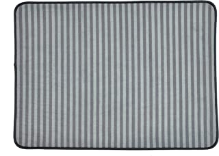 Bone Dry DII Non Slip Stripe Pet Cage Mat, Absorbent Non Scratch Under Cage Mat for Samll, Medium, Large Dogs and Cat, Perfect for Kennels or Crates