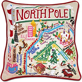 Catstudio North Pole Hand Embroidered Decorative Throw Pillow   Beautiful Award Winning Home Decor Artwork   Great for The Living, Family, Bed Rooms