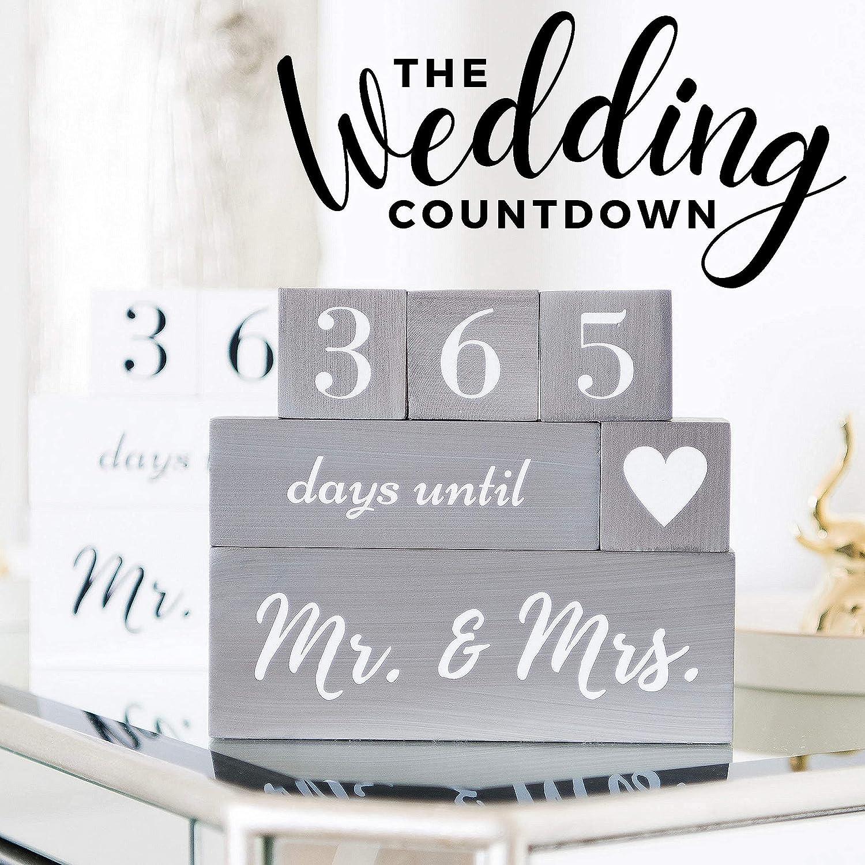 Seasonal Dcor Wedding Countdown Calendar Block Engagement Gifts ...