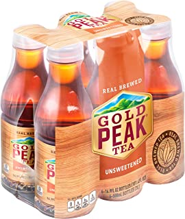 Gold Peak Unsweet Tea, 16.9 fl oz, 6 Pack