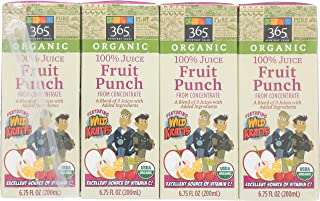 365 Everyday Value Featuring Wild Kratts, Organic 100% Juice from Concentrate, Fruit Punch(8 - 6.75 fl oz Boxes), 54 fl oz