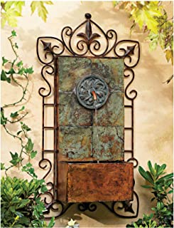 John Timberland Ibizi Rustic Outdoor Wall Water Fountain with Light LED 33