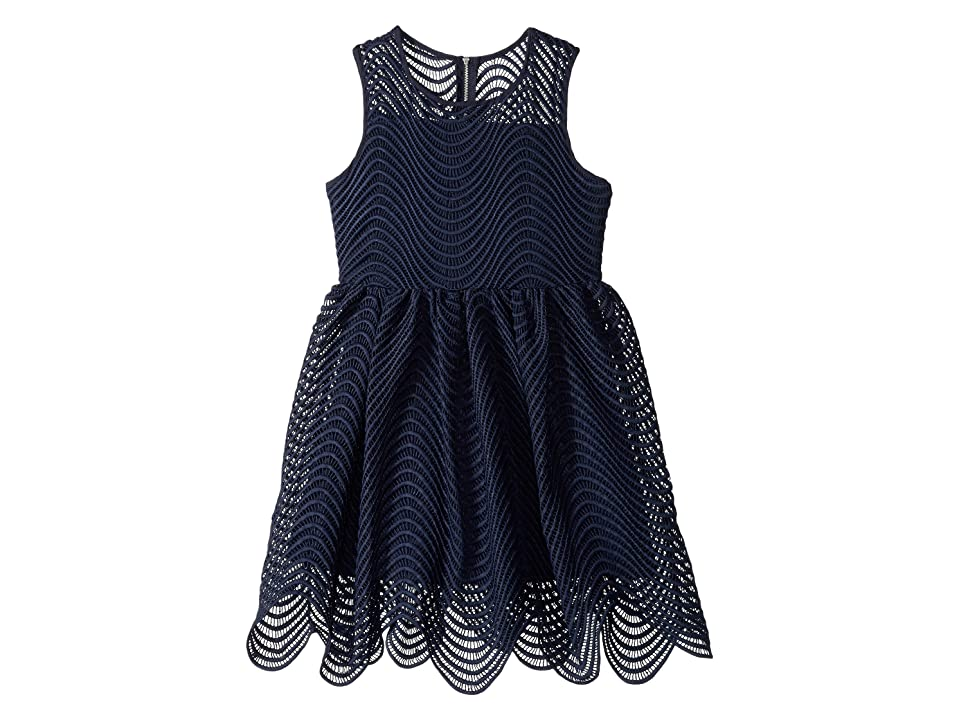 Bardot Junior Spiral Lace Dress (Big Kids) (Navy) Girl s Dress e3bd8de1a