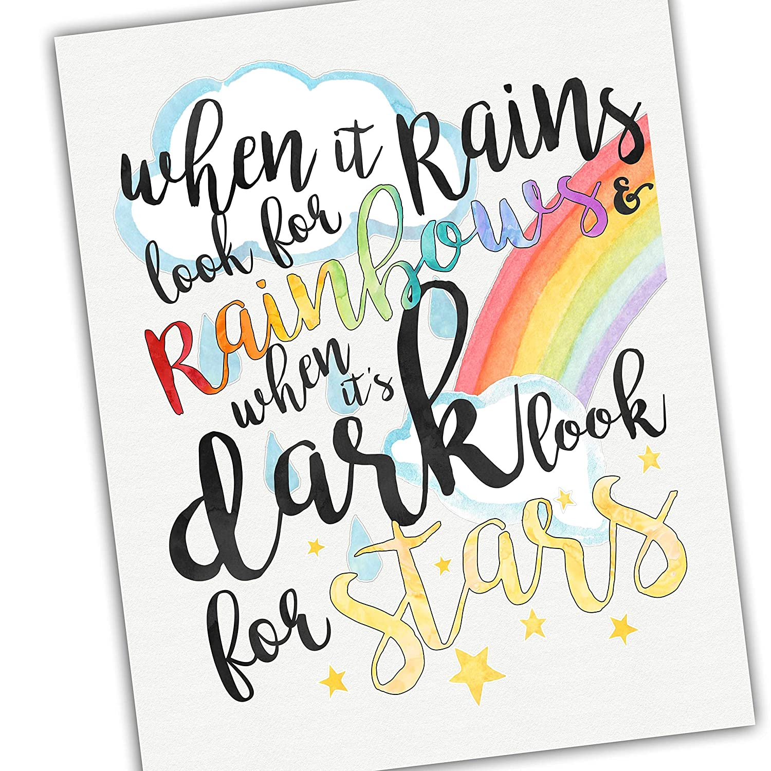 Inspirational Quotes - Watercolors When Rain Some reservation Look it for Manufacturer OFFicial shop Rains