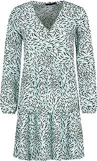 Sublevel Damen Kleid mit Muster-Print und V-Ausschnitt