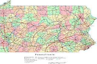 Best detailed map of pennsylvania Reviews