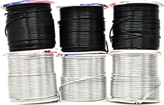 Mandala Crafts Anodized Aluminum Wire for Sculpting, Armature, Jewelry Making, Gem Metal Wrap, Garden, Colored and Soft, Assorted 6 Rolls (16 Gauge, Combo 11)