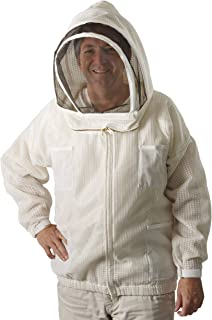 The Ultra Breeze Beekeeping Jacket with Veil, 1-Unit, White, X-Large