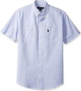 Men's Short Sleeve Solid Sport Shirt