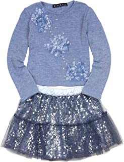 Biscotti Girls' Graceful Glam Sweater and Skirt Set Blue, Sizes 4-10