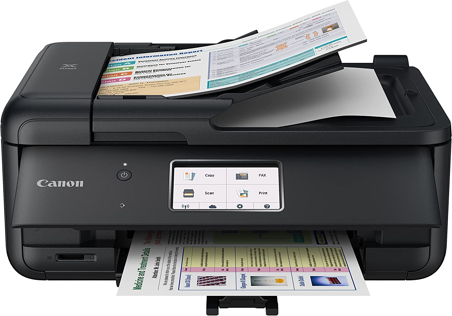 Canon TR8520 All-In-One Printer For Home Office  Wireless   Mobile Printing   Photo and Document Printing, AirPrint(R) and Google Cloud printing, Black