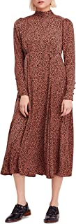 Womens Loveless Animal Print Mock Neck Midi Dress