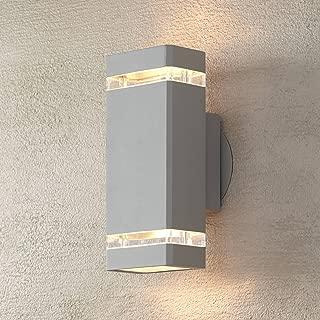 Modern Outdoor Wall Sconce Fixture Matte Silver 10 1/2