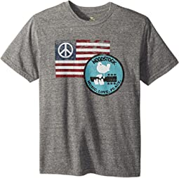 Woodstock Peace Flag Short Sleeve Tri-Blend Tee (Big Kids)
