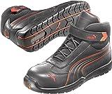 Puma Safety Shoes S3Moto Protect Daytona Mid 63.216.0, 42, Nero (Schwarz (schwarz/rot 210)) - EN safety certified