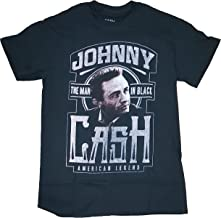 Fashion Johnny Cash American Legend The Man in Black Graphic T-Shirt