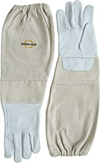 NATURAL APIARY - Goatskin - Beekeeping Gloves - Sting Proof Cuffs - Extra Long Extra Long Twill Elasticated Gauntlets - X Large