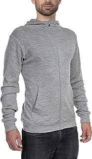 Woolly Clothing Men's Merino Pro-Knit Wool Hoodie Sweatshirt - Mid Weight - Wicking Breathable Anti-Odor