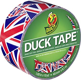 Duck Brand 282221 Printed Duct Tape, Union Jack, 1.88 Inches x 10 Yards, Single Roll