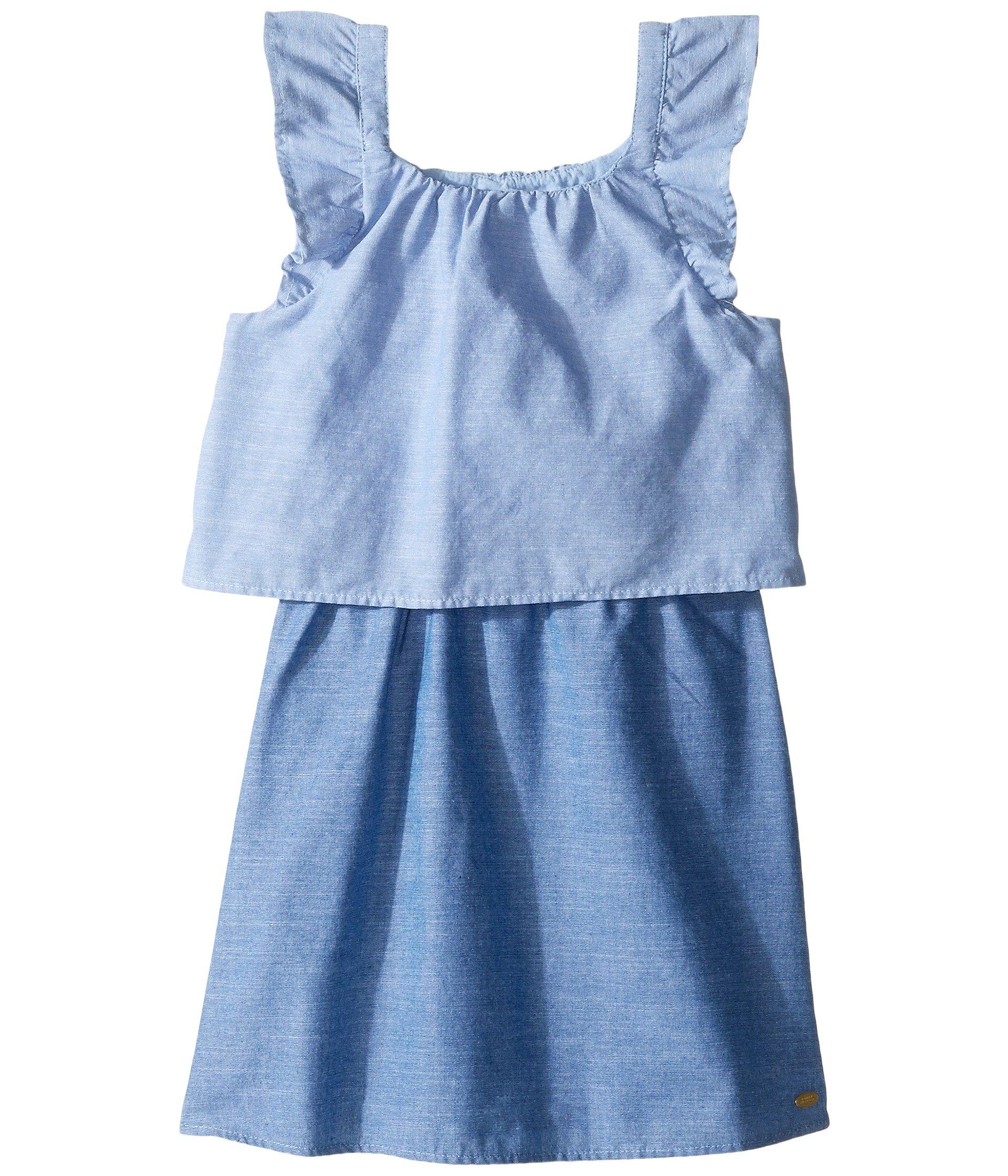 Vestido para Niña Tommy Hilfiger Kids Two-Tone Chambray Top/Skirt Dress (Little Kids)  + Tommy Hilfiger en VeoyCompro.net