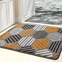 "Color&Geometry Doormat, Indoor Outdoor Waterproof, Non Slip Washable Quickly Absorb Moisture and Resist Dirt Rugs(24""x36"")"