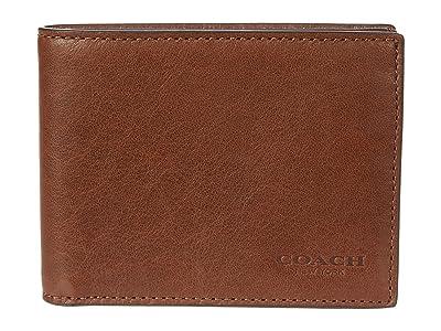 COACH Slim Bifold in Sport Calf (Saddle) Wallet Handbags
