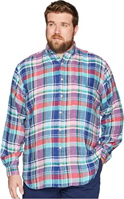 Big & Tall Linen Long Sleeve Sport Shirt