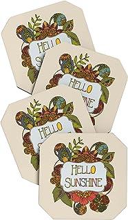 Deny Designs Valentina Ramos Hello My Sunshine Coasters, Set of 4