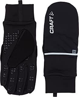 Craft Hybrid Weather 2-in-1 Bike Cycling Mitten Gloves, X-Large, Black