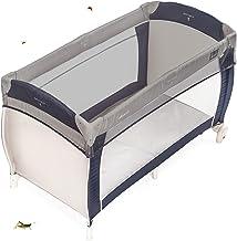 Zamboo Reisebett Insektenschutz Universal - feinmaschiges Moskitonetz für Babybetten, Stubenwagen oder und Laufstall - Grau