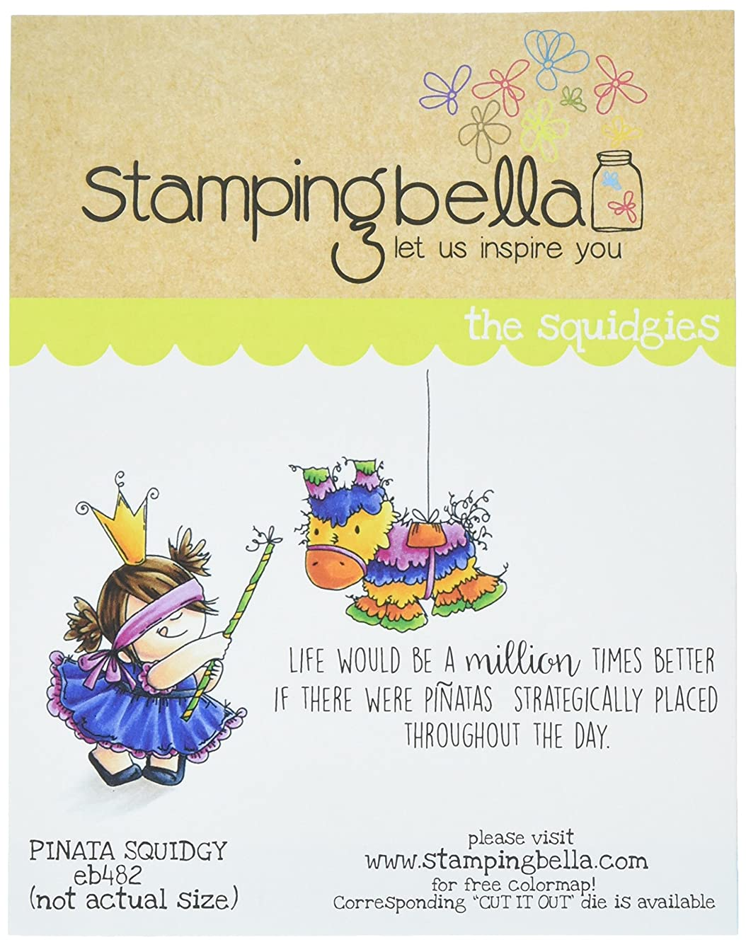 Stamping Bella EB482 Cling Stamps-Pinata Squidgy