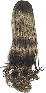 Love Hair Extensions Victorian Crocodile Clip Ponytail. Colour 6 - Dark Ash Brown