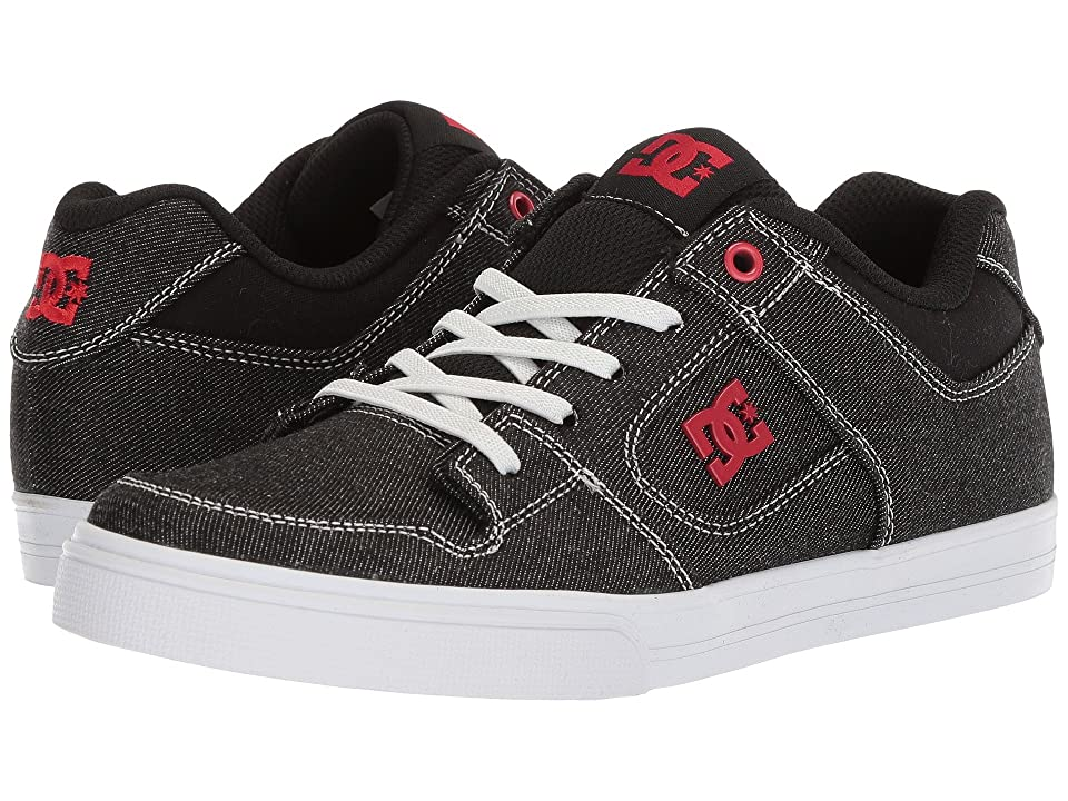DC Kids Pure Elastic TX SE (Little Kid/Big Kid) (Black/Red/White) Boys Shoes