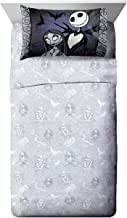 Disney Nightmare Before Christmas Meant to Be Full Sheet Set - 4 Piece Set Super Soft Kid's Bedding Features Jack Skelling...