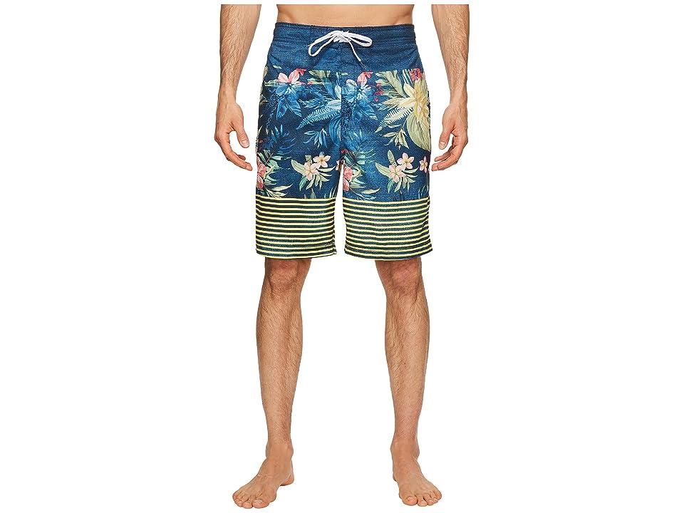 Speedo Aloha Stripe E-Boardshorts (Speedo Navy) Men