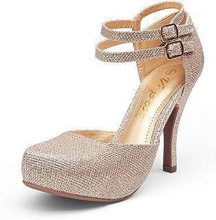 Women's Stiletto High Heels Mary Jane Ankle Strap Pumps...