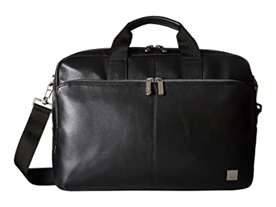 KNOMO London Brompton Classic Amesbury Double Zip Briefcase (Black) Briefcase Bags